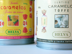 Diseño de Packaging. Caramelos Helva